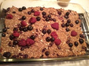 homemade honey oatmeal fruit bars