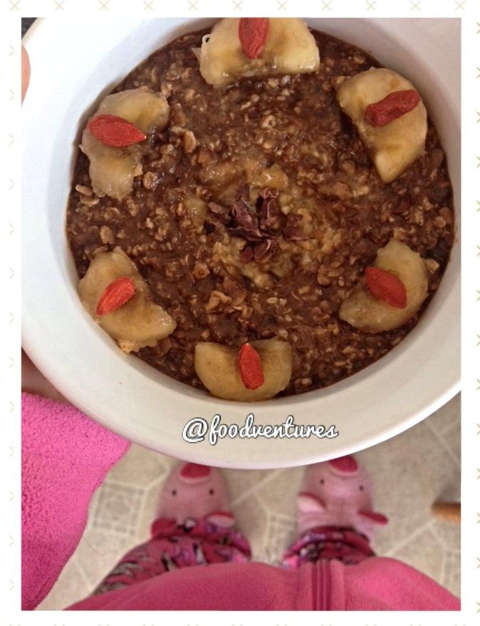chocolate chip banana bread overnight oats