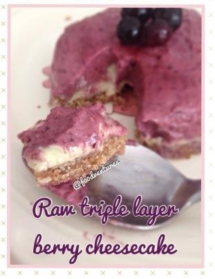 raw triple berry cheesecake 2
