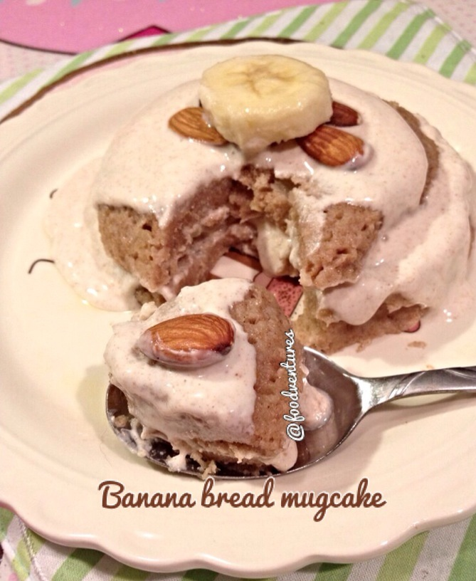 banana bread mugcake