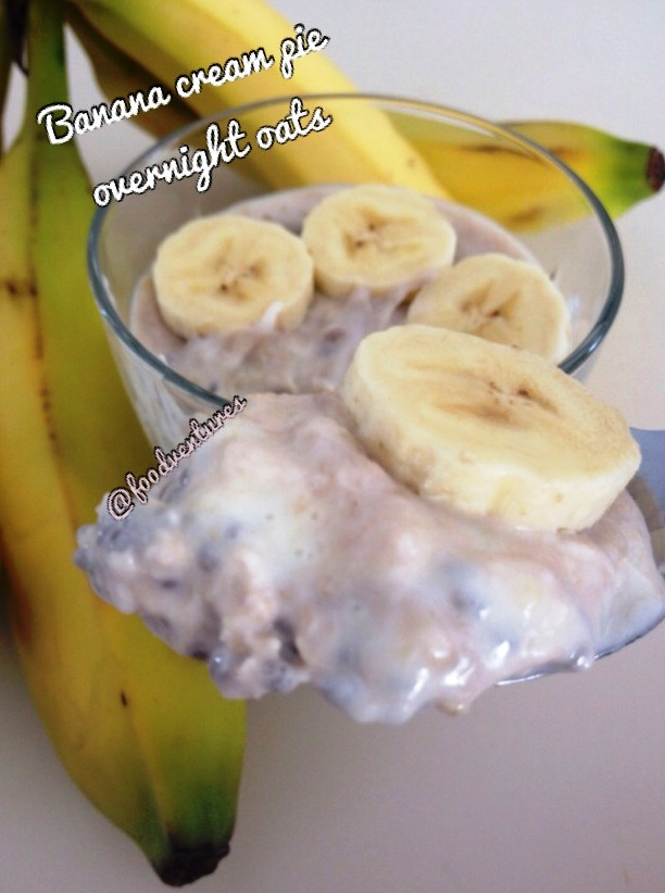 banana cream pie overnight oats