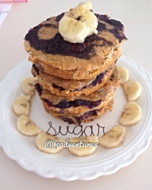 blueberry sweet potato pancakes