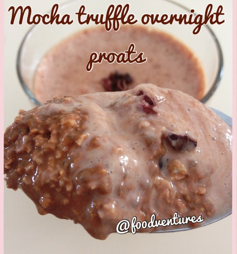 Mocha Truffle overnight proats – Can be made gluten free with GF ...