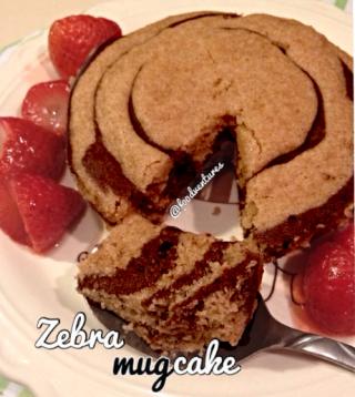 zebra mug cake