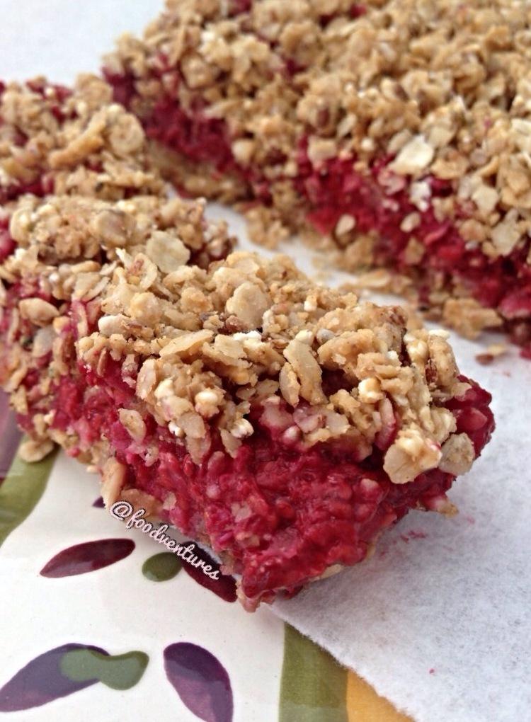 oat bars peanut butter peanutbutterandco Raspberry raspberry oat bars ...