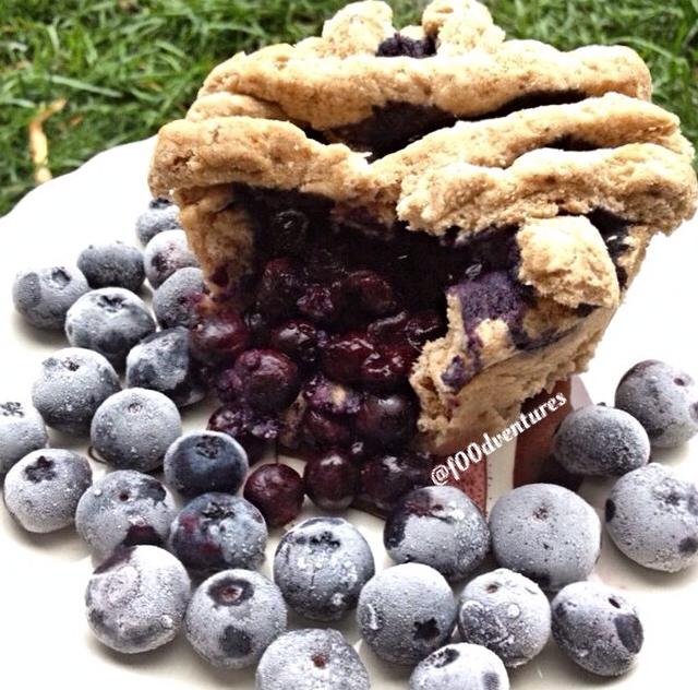 blueberry pie mugcake