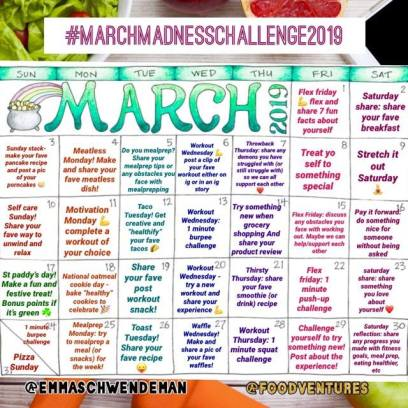 march madnes daily challenge calendar